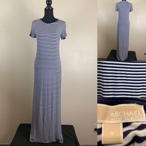 Michael Kors Resort Style Striped Tee Maxi Dress